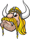 Viking Head. Cartoon Viking head. Vector and high resolution jpeg files available Royalty Free Stock Images