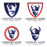 Viking Head Concept Logo Royalty Free Stock Photo