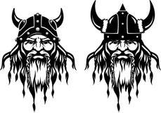 Viking Head Front Photographie stock libre de droits