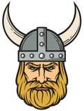 Viking Head Vector Illustration royaltyfria bilder