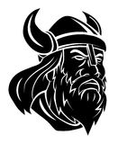 Viking Head Vector Illustration Royalty-vrije Stock Foto's