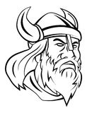 Viking Head Vector Illustration Fotos de archivo libres de regalías