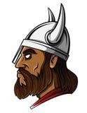 Viking Head Warrior vector illustration Stock Images