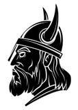 Viking Head Warrior-Vektorillustration stock abbildung