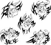 Viking heads Stock Photos