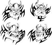 Viking heads Stock Photo