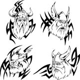 Viking heads Royalty Free Stock Photo