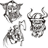 Viking heads Royalty Free Stock Photos