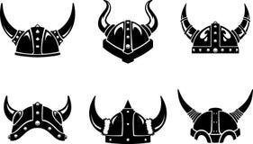 Viking Helm Set royaltyfri illustrationer
