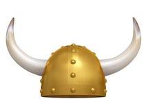 Viking Helmet. Isolated on white. 3D image Vector Illustration