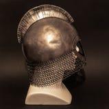 Viking helmet close-up stock images