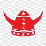 Viking Helmet Icon Illustration sign design. An images of Or pictogram Viking Helmet Icon Illustration sign design Royalty Free Stock Images