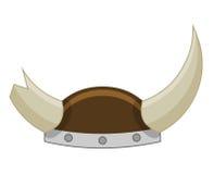 Viking Helmet isolated illustration Royalty Free Stock Photography