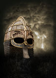 Knight helmet poster Royalty Free Stock Photo