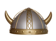 Viking helmet studio cutout Royalty Free Stock Image