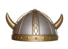 Viking helmet studio cutout. Viking warrior helmet studio cutout royalty free stock image