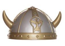 Viking helmet studio cutout. Viking warrior helmet studio cutout royalty free stock photography