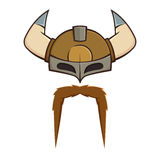 Viking Helmet Symbol Imagenes de archivo