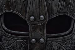 Viking helmet visor Stock Images