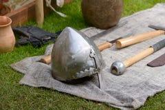 Viking helmet Stock Image