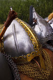 Viking helmets Stock Image