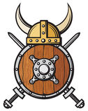 Viking hjälm Royaltyfri Fotografi