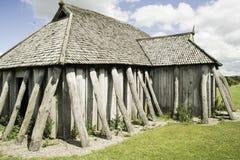 VIKING HOUSE. Old viking house in Denmark stock photo