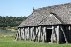 Viking-huis in de stad van Hobro Stock Foto's