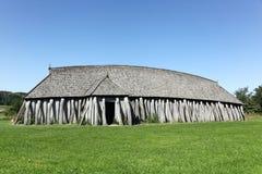 Viking hus i Hobro, Danmark Royaltyfria Foton