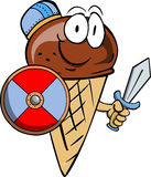 Viking ice cream cone with sword Royalty Free Stock Image