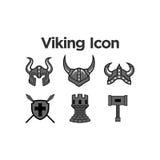 Viking Icon Set Imagen de archivo libre de regalías