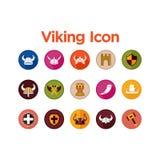 Viking Icon Set Stock Photo