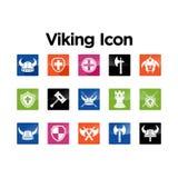 Viking Icon Set Stock Images