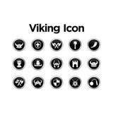 Viking Icon Set Stock Photos