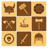 Viking icons Royalty Free Stock Photo