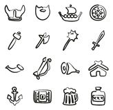 Viking Icons Freehand illustration libre de droits