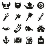 Viking Icons Freehand Fill illustration stock