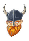 Viking. Illustration of old viking chief Royalty Free Stock Images