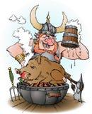 Viking inviterar för att festa stock illustrationer