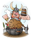 Viking invites to party Royalty Free Stock Photos