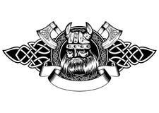 Viking in kader stock illustratie