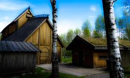 Viking korridor arkivbilder