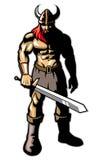 Viking-Krieger mit großer Klinge Lizenzfreie Stockbilder