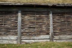 Viking-Lang-Hausmit stroh decken Lizenzfreies Stockbild