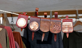 Viking leather bags. Stock Images