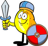 Viking lemon with sword Royalty Free Stock Photography