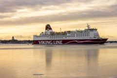 Viking Line-cruise, Helsinki, Finland Royalty-vrije Stock Afbeelding