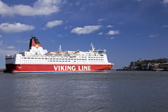 Viking Line ferry. The Viking Line ferry sails from port of Helsinki on April 20, 2013 royalty free stock image