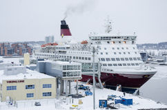 Viking Line - Ship - Port of Turku Stock Photography