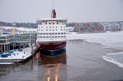 Viking Line - Ship - Port of Turku Royalty Free Stock Photos